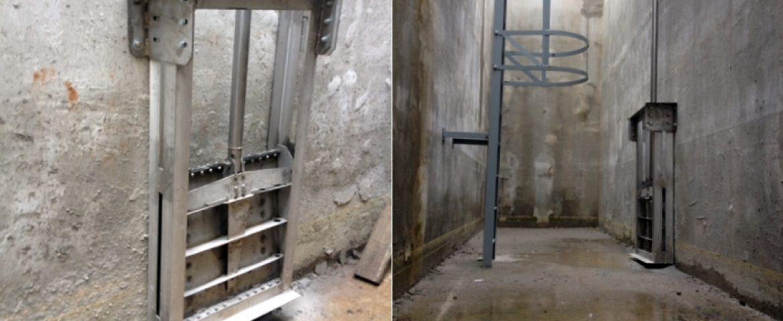 Щитовой затвор глубинный