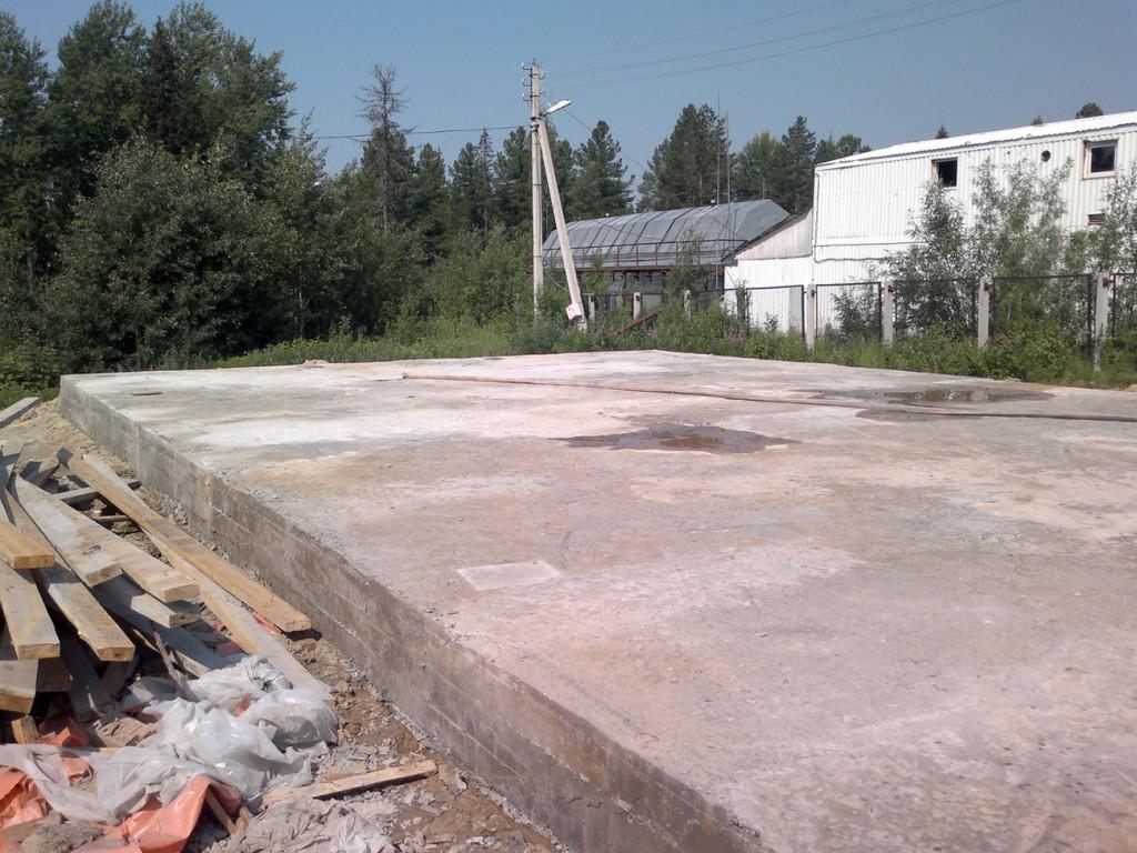 БК-600 фундаментная плита для станции очистки
